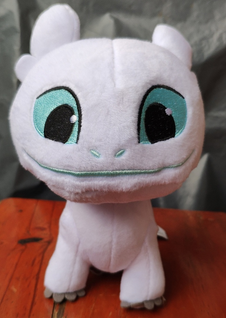 How to Train Your Dragon 3 Light Fury White Dragon Plush Doll Toy  Gift