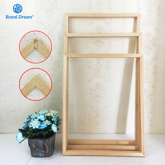 40X50cm DIY Painting Calligraphy Frame painting Wooden Frame for Oil ...