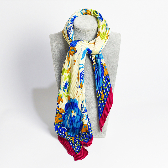 Fashion Square Crumpled Scarf | Lightweight Scarves