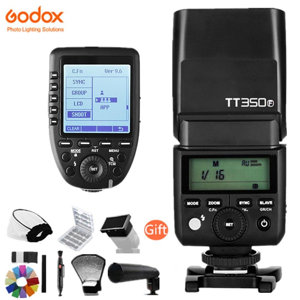 Godox TT350F pour Fujifilm Mini Speedlite Flash TTL HSS GN36 1/8000 s 2.4g Système Sans Fil pour Fuji x1T-F XPro-F Trigger