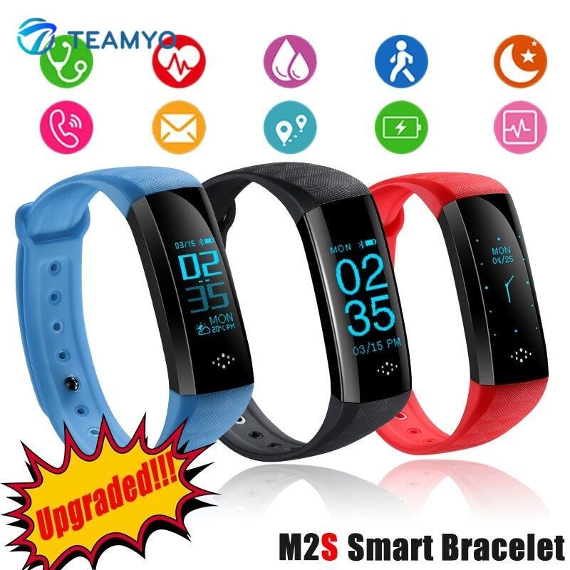 Teamyo M2S Sport Smartband OLED Blood Pressure Watch Blood Oxygen Heart Rate Monitor Smart Bracelet Weather