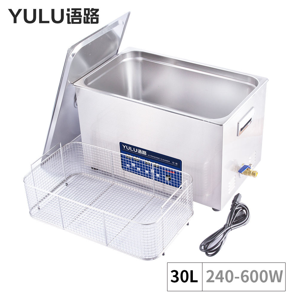 Industrial Power Adjustment 30L Ultrasonic Cleaner injector Engine Block Auto Car Parts Lab Equipment Ultrasound Timer Heater