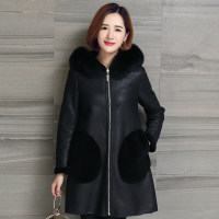 Genuine Leather Coat Leather Jacket Winter Warm Lambs Wool Fur Collar Real Leather Jackets Shearling Coats