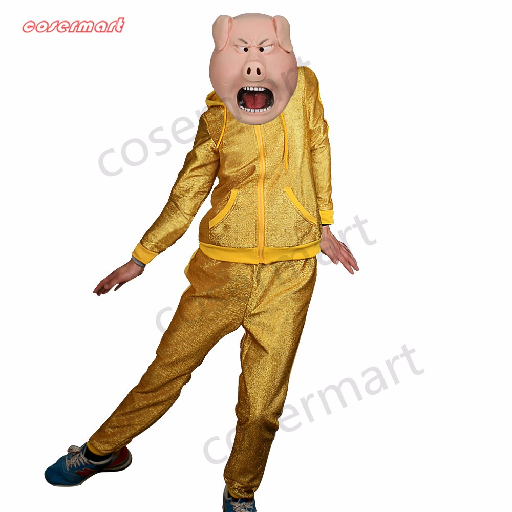 2016 Movie Sing Cosplay Porcupine Ash Latex  Mask Pig  Animal Mask Halloween Party (7)