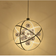 Modern LED Pendant Lights 50CM 80CM Circle Acrylic pendant lamp For Living Room Dining Room LED Fixtures Pendant lighting E086(China)