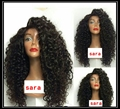Cheap Sale Fiber Kinky Curly Wigs Synthetic Lace Front Wigs Curly Wigs Boncy Glueless Heat Resistant Hair Wigs Fast Shipping