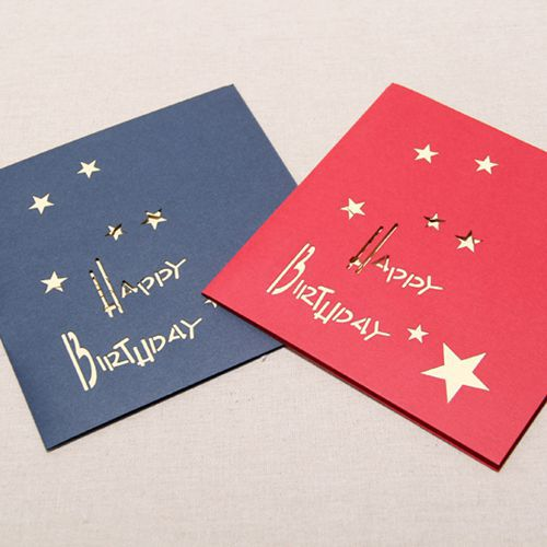 many stars handmade  creative heart d pop up gift  greeting, Birthday card