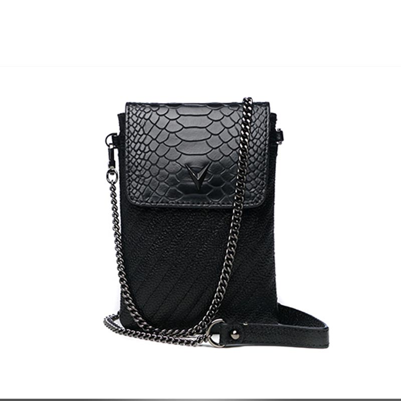 Serpentine femmes doux en cuir véritable sac de téléphone Mobile femme Mini paquet Messenger épaule sac à bandoulière pochette porte-monnaie