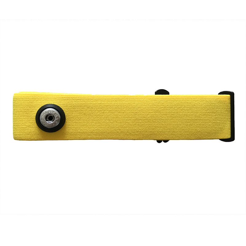 Universal Replacement Silica Gel Heart Rate Monitor Soft Strap Belt For Polar Wahoo Garmin Timex Suunto Transmitters, Yellow