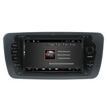 For In dash pure android Seat Ibiza Car DVD player GPS with radio/GPS/BT/Ipod list/USB/SD/3G/WIFI/Steering wheel control/canbus