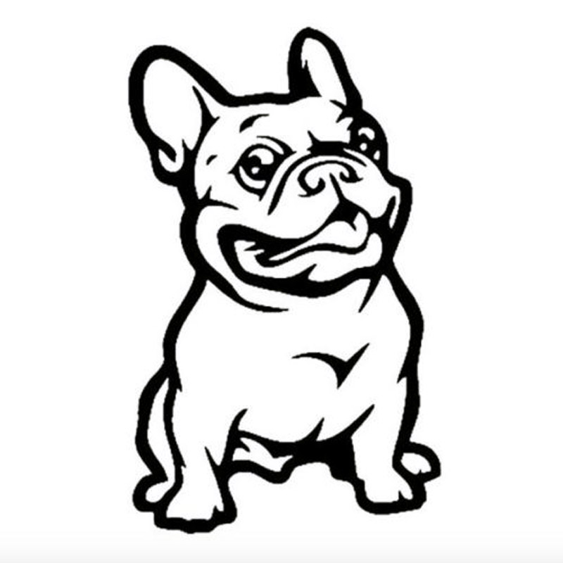 8*13CM Funny French Bulldog Car Styling Stickers Lovely Classic Animal Decorative Window Decals C6-0958