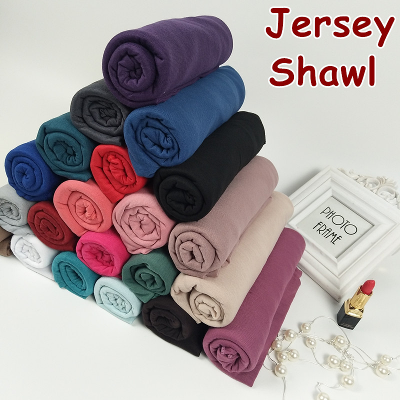 31color High quality jersey   scarf   cotton plain elasticity shawls maxi hijab long muslim head   wrap   long   scarves  /  scarf   10pcs/lot