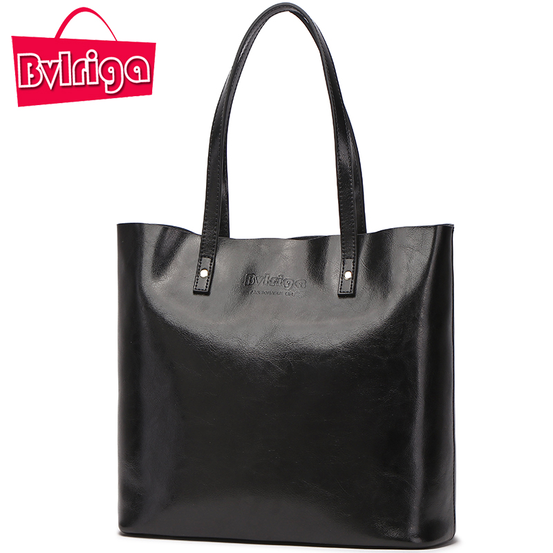 BVLRIGA Ladies' Genuine Leather Handbag Shoulder Bag Women's Handbag Bags Handbags Women Famous Brands Women Bag