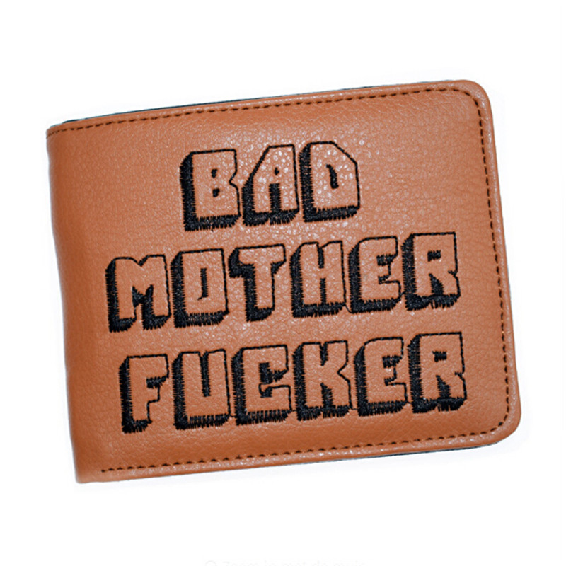 Wallet With Zipper Coin Pocket Bad Mother Boys Wallet Card Holder Vintage Gift Purse