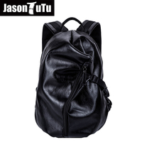 2018 New Vintage men backpack high quality PU leather school bags for teenagers Preppy Style Travel Backpack mochilas B62