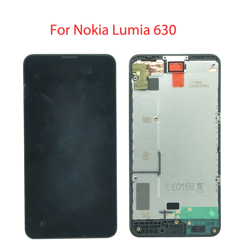 Original For Nokia Lumia 630 LCD Screen Display and Touch Screen Digitizer with frame Assembly Or Lumia 630 lcd without frame