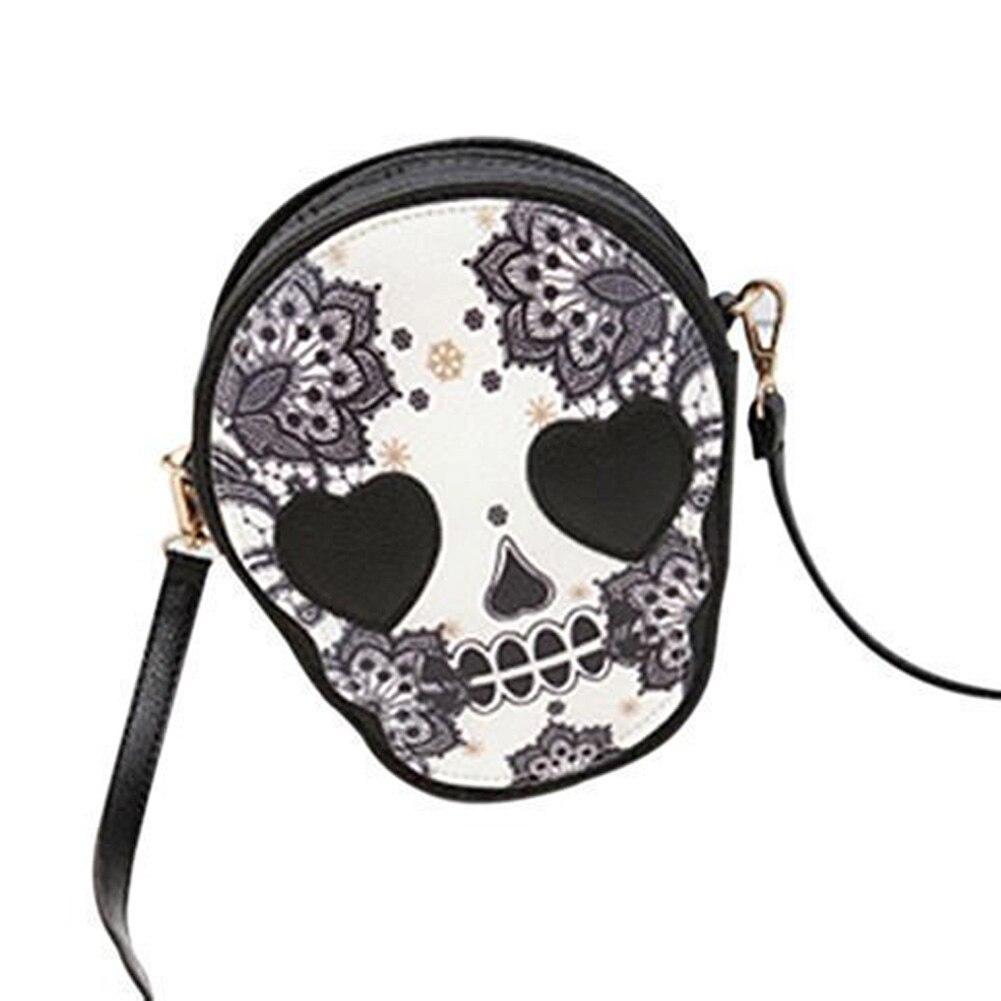 10 pièces (ABDB femme Mini sac à main Messenger personnalisé mignon tête de crâne bandoulière/sac à bandoulière