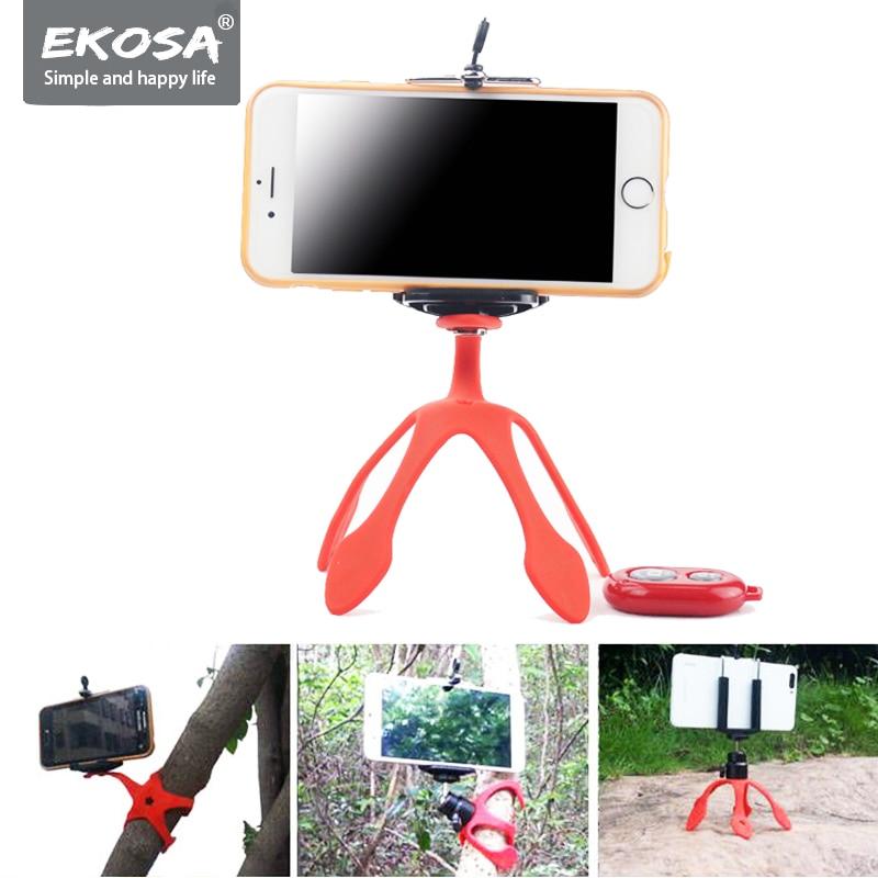 Ekosa Gekkopod Camera Stand Tripod For Phone Mini Flexible Octopus Ahtapot Tripod TRIPODE Mobile With Remote Control Gorillapod