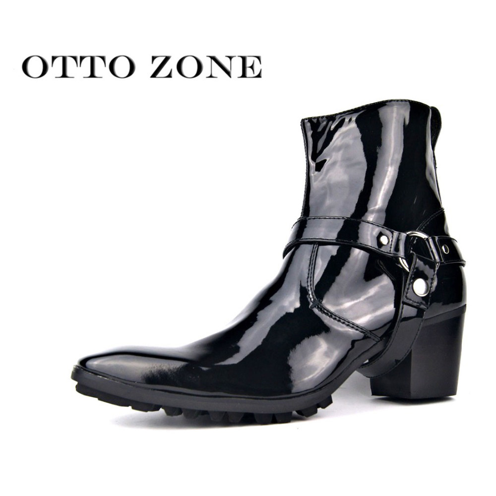 2019 Fashion High Heel Boots For Men Handmade Genuine Leather Brand Shoes Boot Classic Retro Shoes Sheepskin Leather Man Designer Shoes Cheapest Price From Our Site Chelsea Boots Shoes