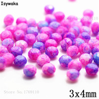 Isywaka 3X4mm 30,000pcs Rondelle Austria faceted Crystal Glass Beads Loose Spacer Round Beads for Jewelry Making NO.09