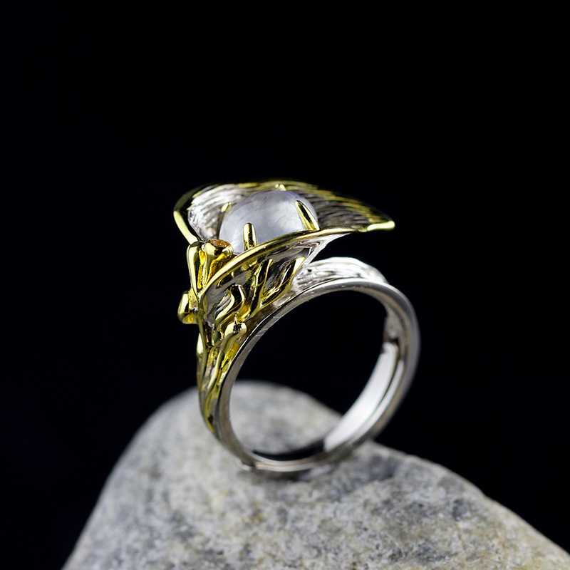 The character of the new fashion women's silver moon moon goddess Calla true to life S925 ring the character of the new fashion women s silver moon moon goddess calla true to life s925 ring
