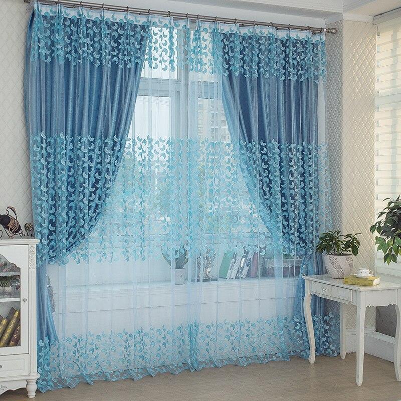 venta caliente romntica cortinas moradas para sala de estar verde hojas de sauce cortinas de ventana escarpadas en cortinas de hogar y jardn en