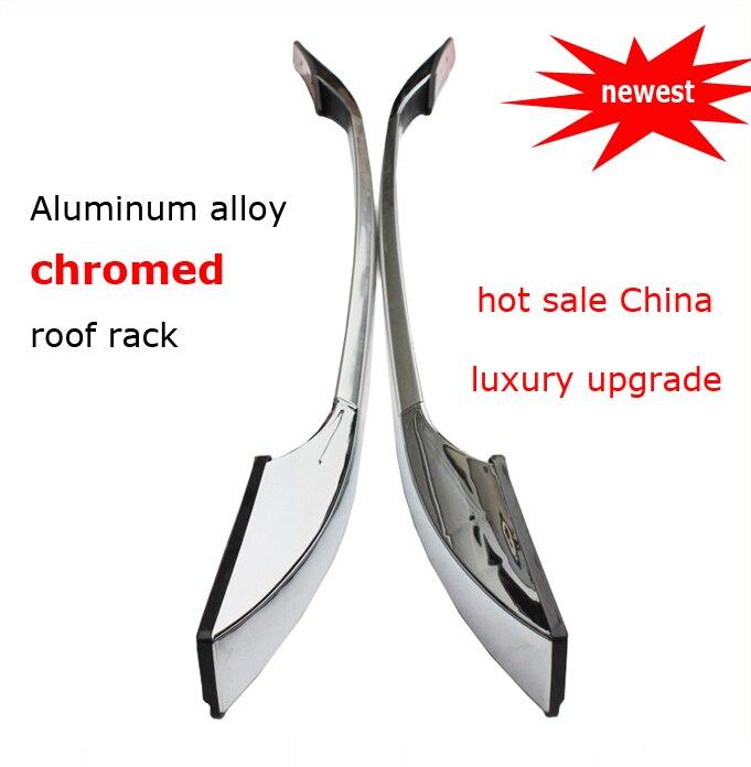 Vendita calda chrome portapacchi rail bar sul tetto per QASHQAI IX35 Sportage Outlander ASX CX-5 CX-7 CX-9, 607 in lega di alluminio, nuovo arrivo
