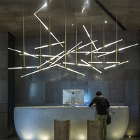 Designer Art Decor Pendant Lamp Light Suspension Hanging Pipe Ceiling Lamp for Bar Counter Exhibition Hall Showroom Clothing