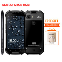 AGM X2 6 128GB IP68 Waterproof Mobile Phone Snapdragon 653 Dual 12MP Rear Cameras 16MP Front
