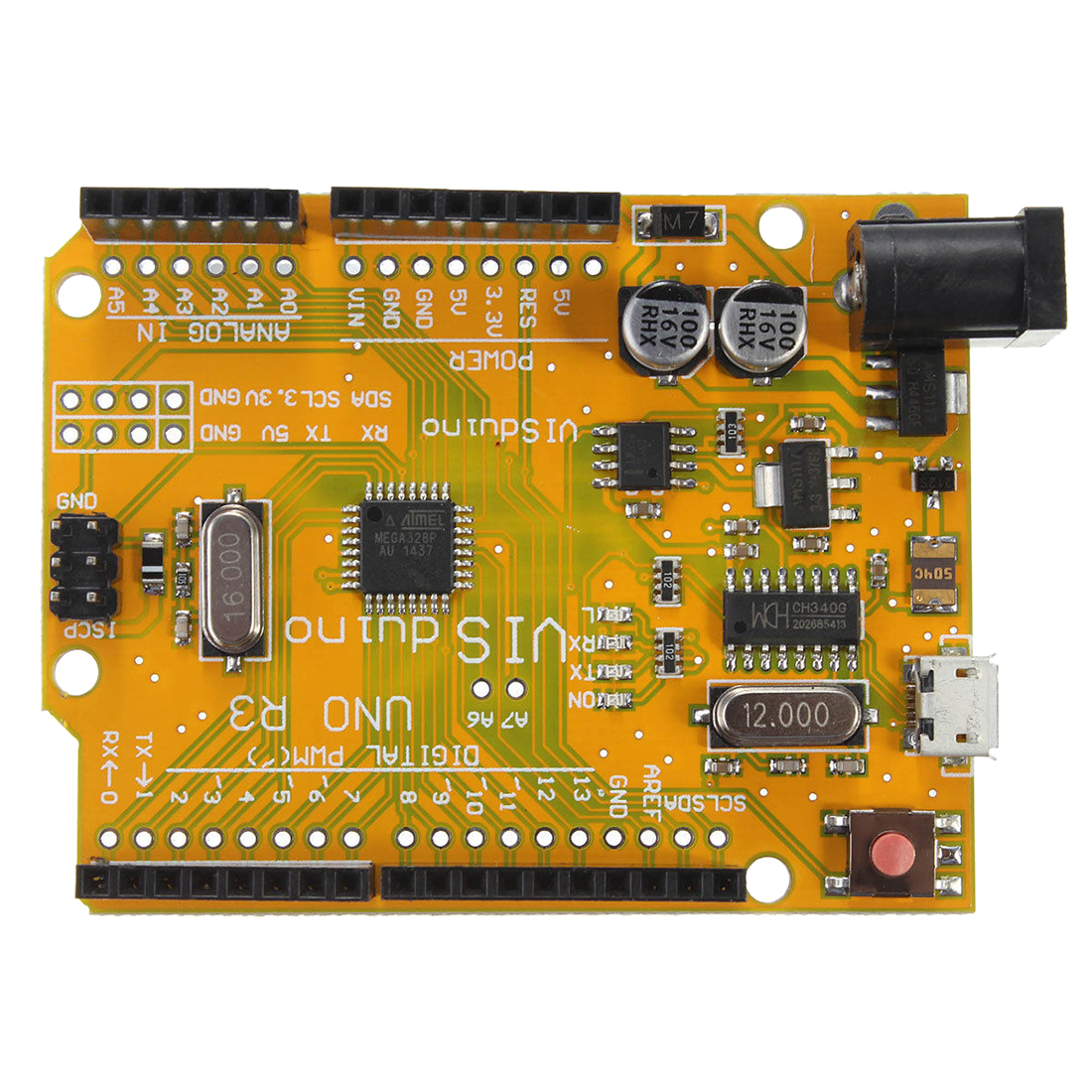 For Uno R3 Atmega328p Ch340 Micro Mini Usb Board Compatible Pcb Printed Circuit 7x9 Cm Prototype Led Diy Project Ebay Plug Development The Driver Will Automatically Install Select Inside Die Com Port This Can Be A Query In My