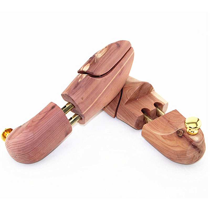 1 pair of shoe shoe trees of wood width adjustable for s