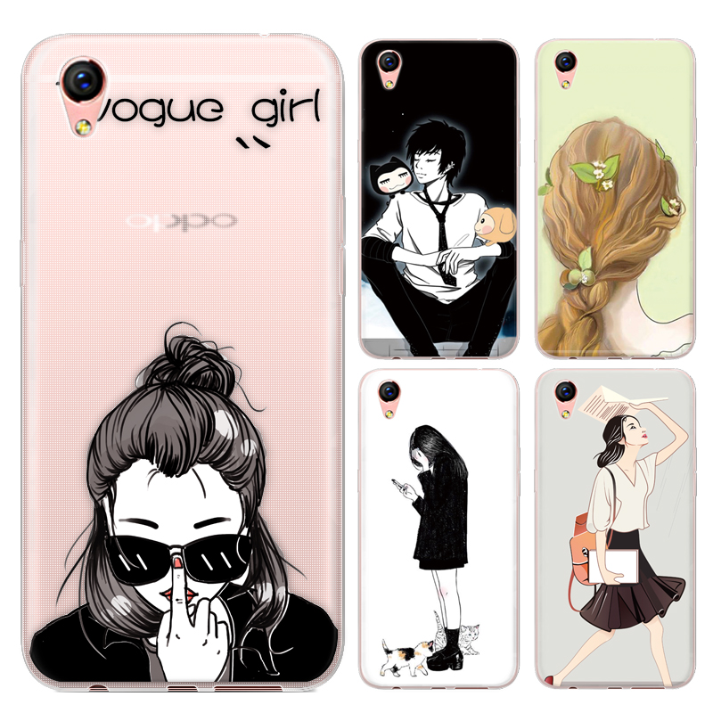 Drawing Characters Series Phone Case For Oppo R9 5.5-inch  Oppo R9 Plus 6-inch Painted TPU Soft Case