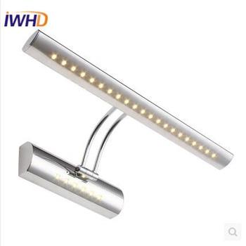 Modren настенная лампа LED модное серебряное зеркало настенное бра осветительные приборы Простой настенный светильник для ванной Lamparas Luminair лам...