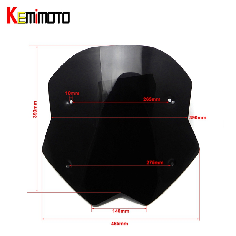 For Yamaha T MAX TMAX 530 2012 2013 2014 New Version Larger Windscreen Windshield Deflectors For