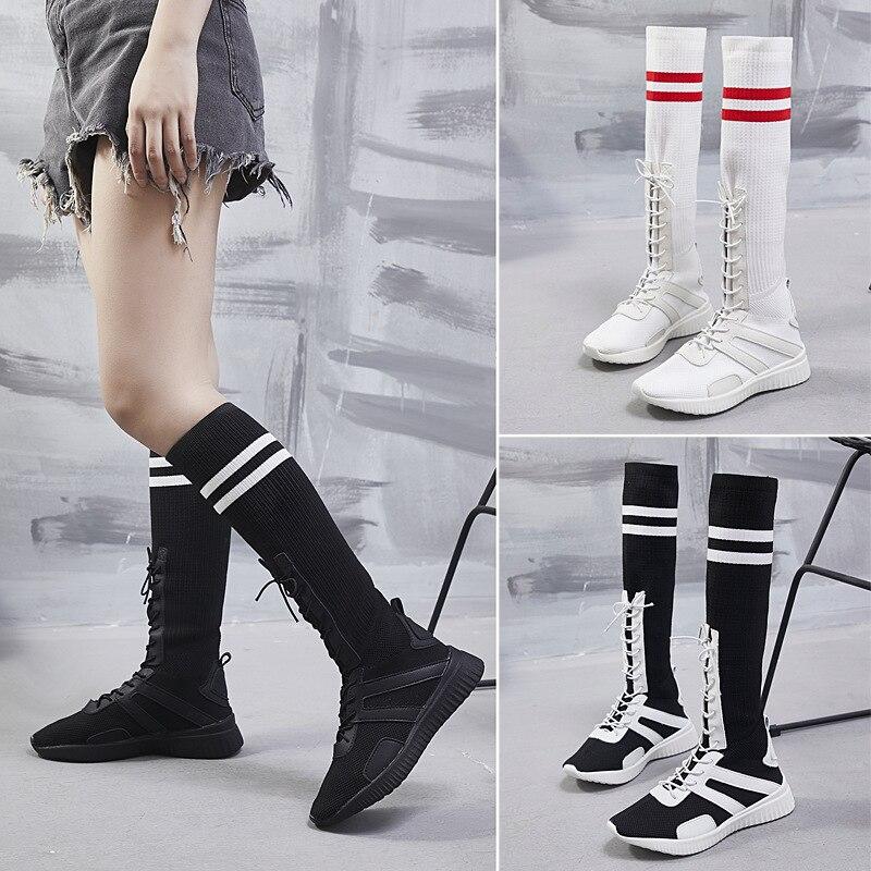 Chaussettes 2 Marée Ronde Long Haute Plat 1 Casual Tête Femmes top Vent Tube Collège Blanc Chaussures De Et 3 Rouge qwAaUz