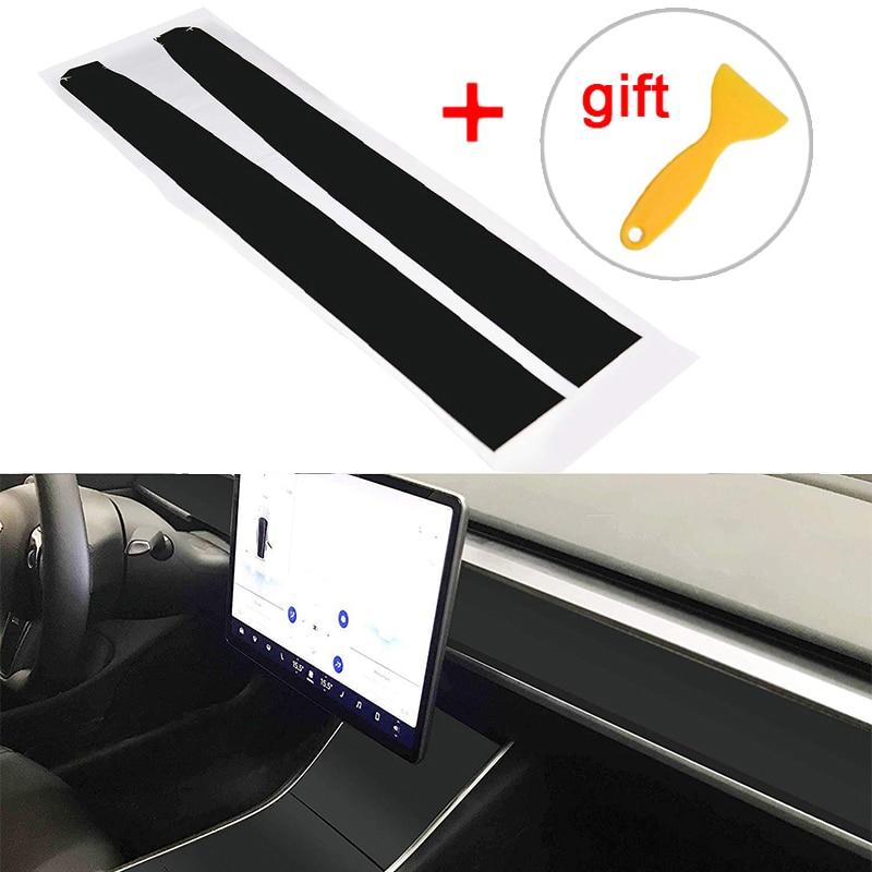 Для Tesla модель 3 Внутренняя крышка стикер комплект из углеродного волокна прочный комплект Замена-in Наклейки на автомобиль from Автомобили и мотоциклы