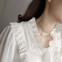 Luxury women's chokers necklaces silver flower simple elegant party holiday necklace fashion sexy top accessories