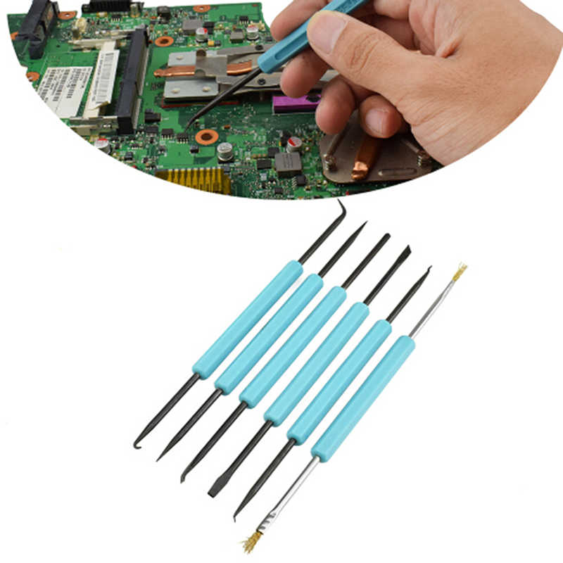 Soldering Solder Iron Hot Air Gun Welding Assist Disassemble Tool For BGA Electronic Components Repair 6pcs/set