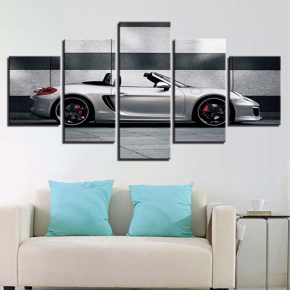Wall Art Home Decor Framework HD Printed Canvas Painting Modern 5 Panel Sports Car For Living Room Pictures Modular Poster YJG