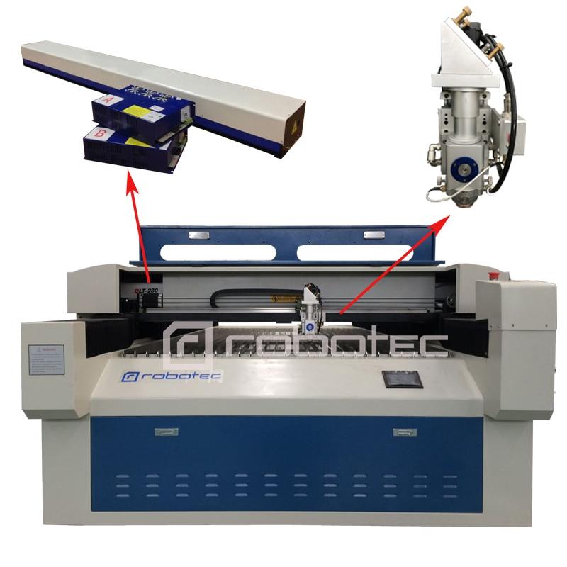 Chinesische Robotec 150 watt 280 watt edelstahl stahl cnc-laserschneiden metall maschine/co2 laser metallschneider stecher 1325