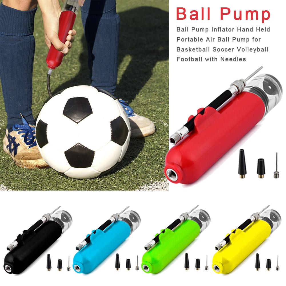 Ball Pump Inflator Hand Held Portable Air Ball Pump For Basketball Soccer Volleyball Football With Needles New Brand