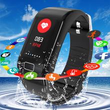 LIGE nowych mężczyzna kobiet Smart watch tętna Monitor ciśnienia krwi Fitness Tracker przypomnienie o połączeniu Smart Sport inteligentna bransoletka + pudełko tanie tanio Passometer Wiadomość przypomnienie Przypomnienie połączeń Pilot zdalnego sterowania Naciśnij wiadomość Ciśnienie krwi