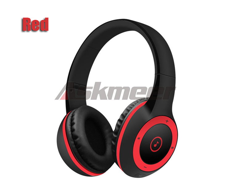 Askmeer T8 Wireless Bluetooth Headphone Foldable Stereo Earphone Headset Handsfree with Microphone Support TF Card Music Play (13)