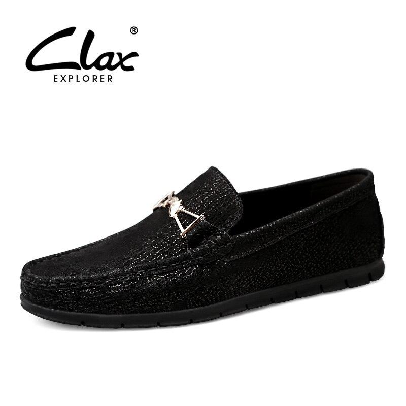 Designer dark Mans Chaussures En Plat Mocassins brown Cuir Véritable De Bateau Clax Respirant Black 2019 D'été Brown Hommes odCexrWB