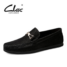 CLAX Mans Boat Shoes Genuine Leather 2019 Summer Designer Flat Moccasins Male Loafers Mens Shoe Breathable
