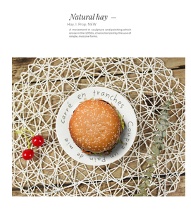 Image 4 - INS Photography Props Hand woven Rope Mat & Placemats Cloth for Fine Food Fruit Photo Studio Background Accessories Fotografia