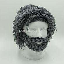 Wig Beard Hats Hobo Mad Scientist Rasta Caveman Handmade Knit Warm Winter Caps Men Women Halloween Gift Funny Party Mask Beanies