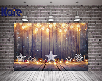 Kate Gray Wood Photography Backdrops Christmas 10x10ft Bright Photography Background With Shimmer Lanterns Star Photo Backdrop