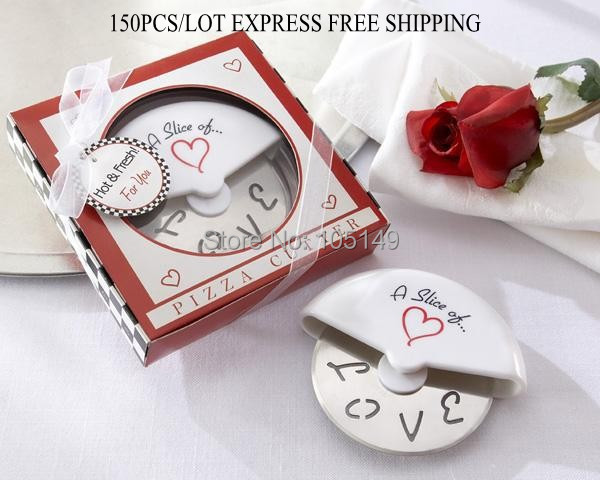 Event & Party 5pcs/lot Wedding Favor a Slice Of Love Stainless-steel Pizza Cutter Bridal Shower Favors For Wedding Souvenirs And Love Gift Elegant And Sturdy Package Party Favors