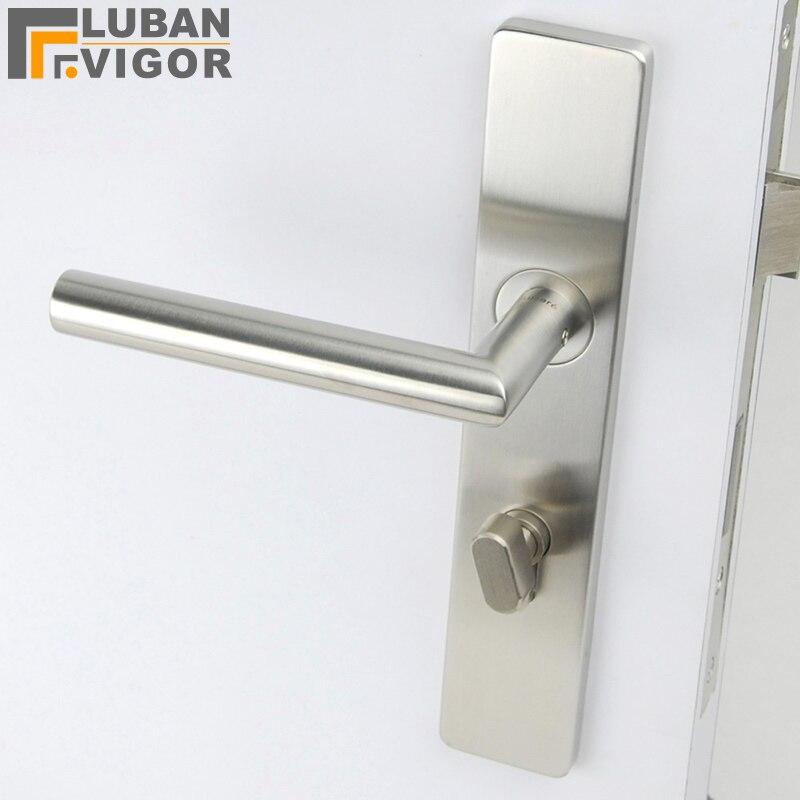 Simple design so beautifu One panel lock handle solid 304 stainless steel Exquisite workmanship Door hardware